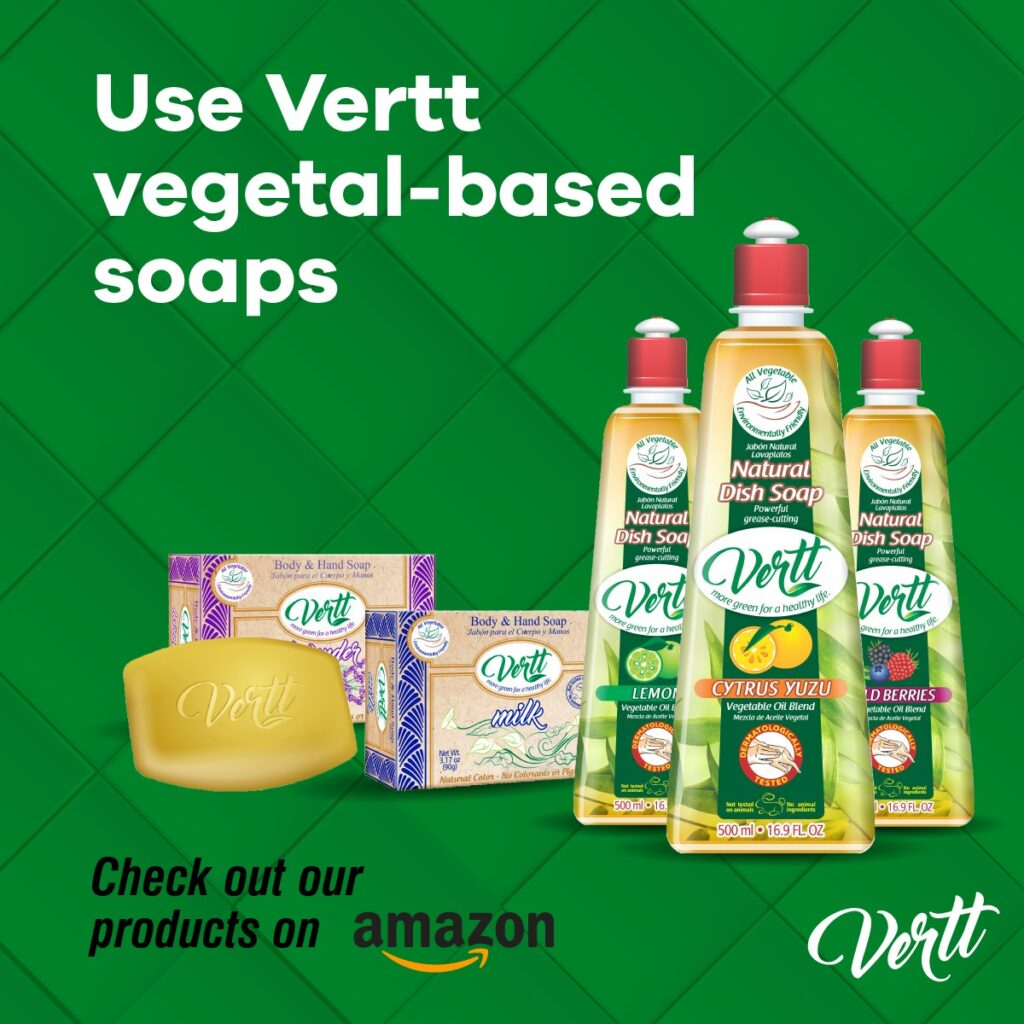 Shop Now - Dish Soap And Soap Bar - Vertt Products